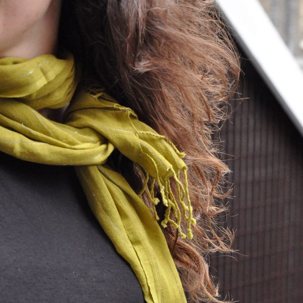 Silver Lined Cotton Scarves 7