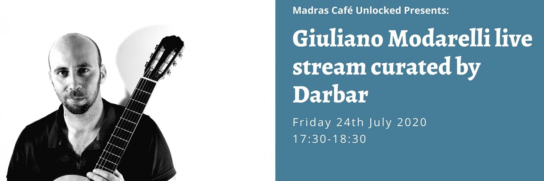 Giuliano Modarelli live stream curated by Darbar