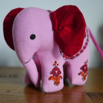Elephant Soft Toy - Orange 1