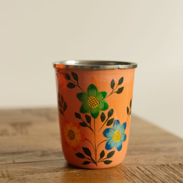 Hand-painted Steel Tumblers (small) - Yellow 2