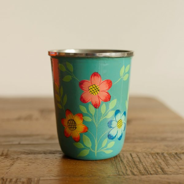 Hand-painted Steel Tumblers (small) - Yellow 4