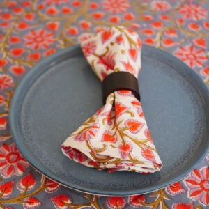 Table Napkins - Hand Blocked Printed 1