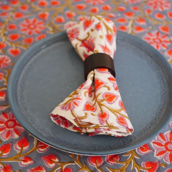 Table Napkins - Hand Blocked Printed 1