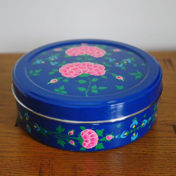 Hand-painted Spice Box - Dark blue