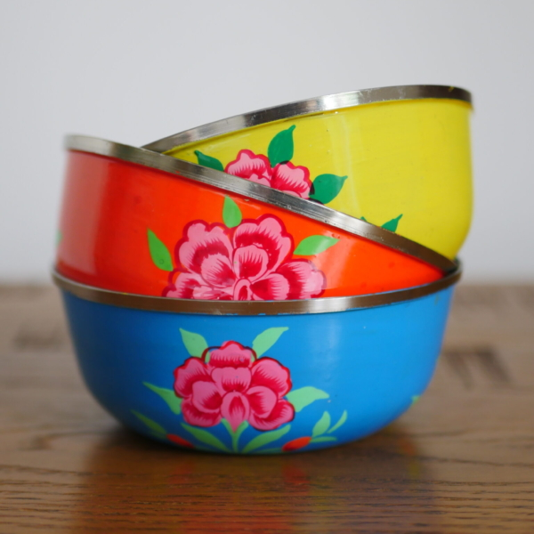 Hand-painted Steel Bowls 9
