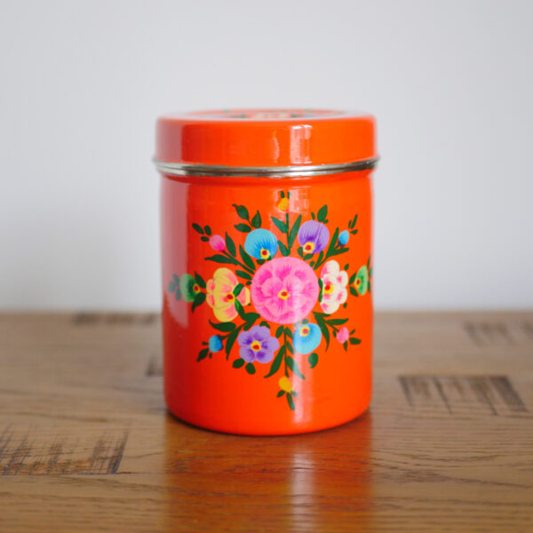 Hand-painted Steel Tins with lid 8