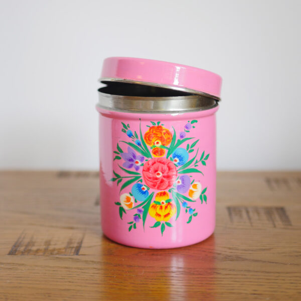 Hand-painted Steel Tins with lid 2