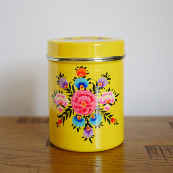 Hand-painted Steel Tins with lid 3
