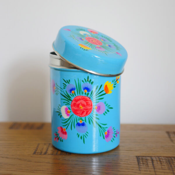 Hand-painted Steel Tins with lid 4
