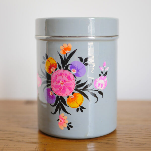Hand-painted Steel Tins with lid 7