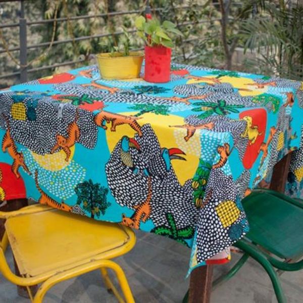 Organic Printed Cotton Tablecloths